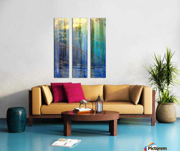 Lakeside Intrigue Split Canvas print