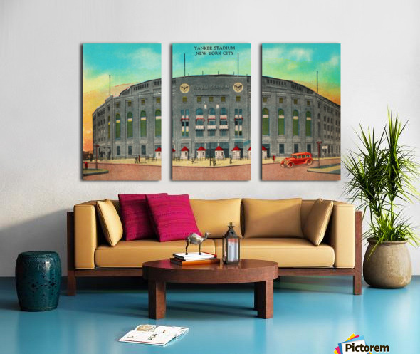 1935 Vintage New York Yankees Stadium Art Split Canvas print