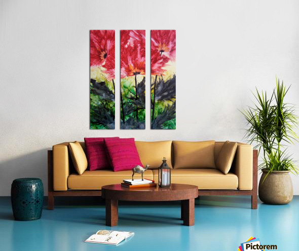 Poppies Galore Split Canvas print