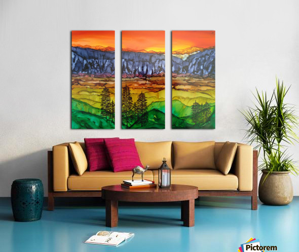 Hidden Canyon Split Canvas print