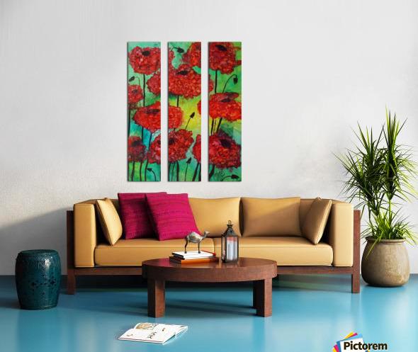 Thinking of Poppies Split Canvas print
