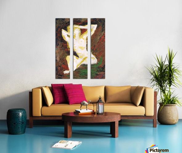 Helena_ oil painted with spatula Split Canvas print