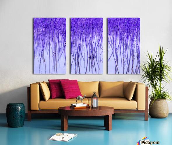 Blue Sticks Split Canvas print