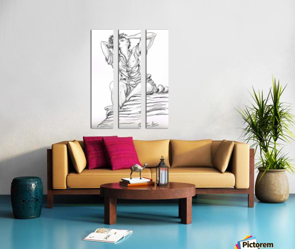 Sophia_ charcoal Split Canvas print