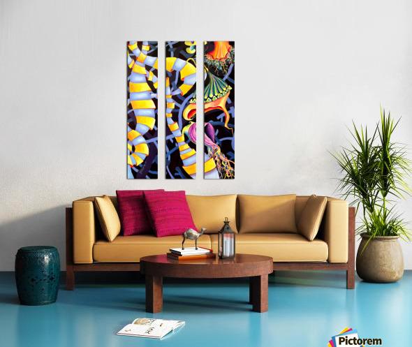 Watercolor Tropical Surrealism Orchids Painting Split Canvas print