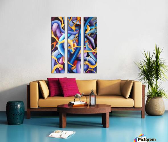 Interlacing Vivid Contemporary Abstract Split Canvas print