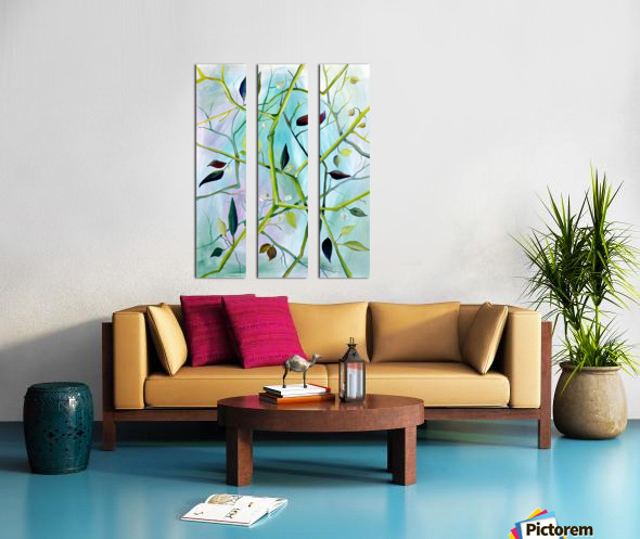 Realm of Greenery Foliage Split Canvas print