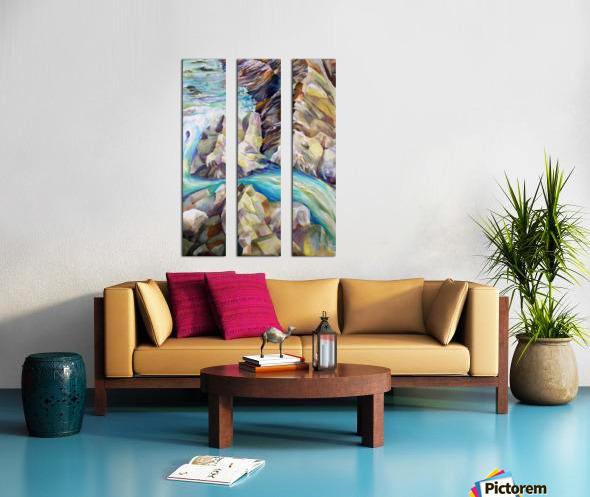 Rocky Mountains Crystel River Colorado Split Canvas print