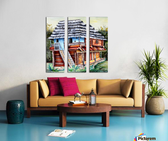 Romania Transylvania  Heritage House Split Canvas print