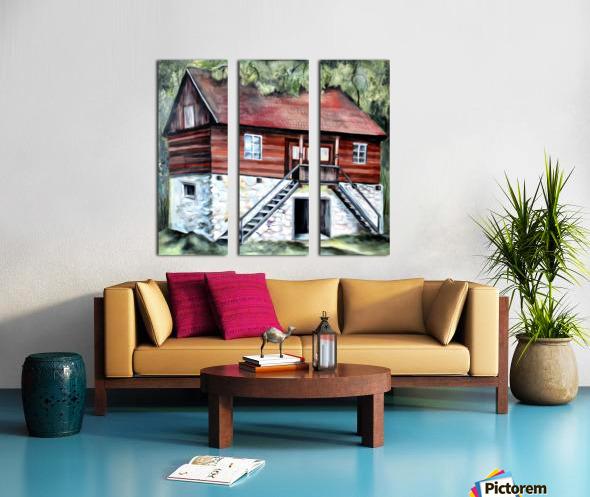 Romania Transylvania Historical Traditional House Split Canvas print