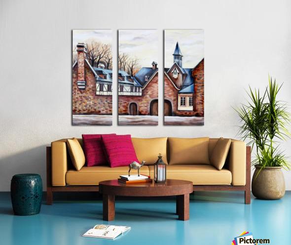 French Provenance Belgium Liege Split Canvas print