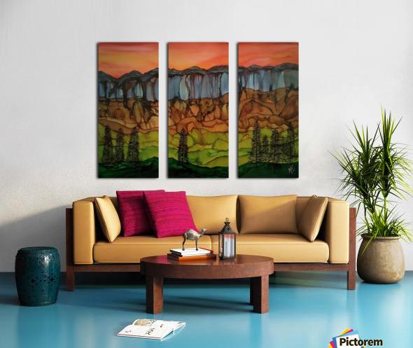 Weeping Cliffs Split Canvas print