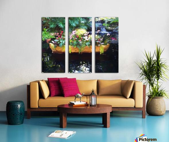 Floating Botanicals Split Canvas print