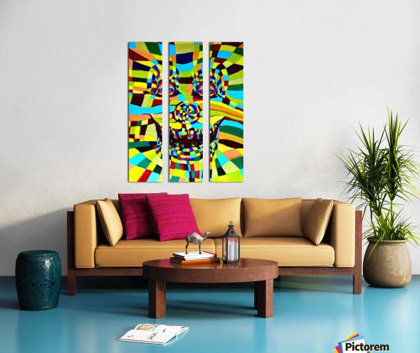 Watecolor Contermporary Pop Surrealism Clown  Split Canvas print