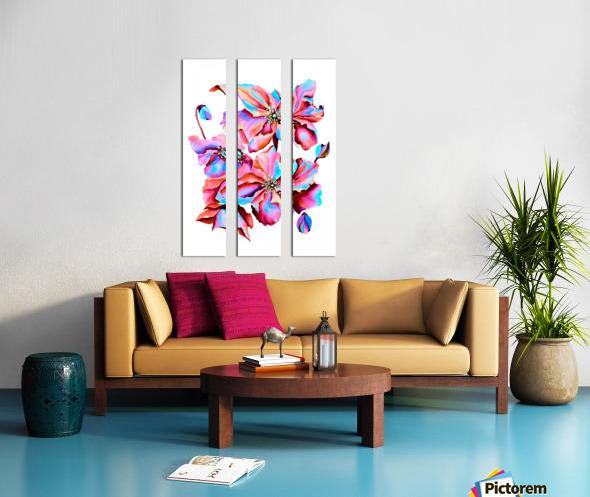 Himalaya Hot Fushia Poppies Split Canvas print