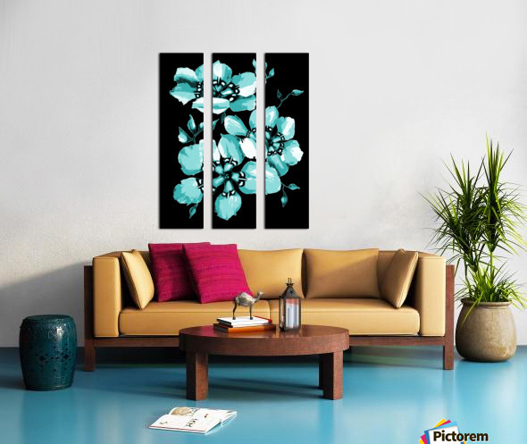 Harmonious Artdeco Floral Pattern  Split Canvas print