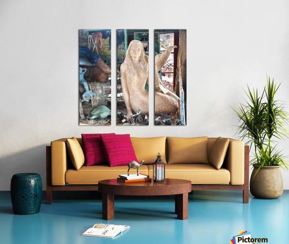 MermaidPondering Split Canvas print