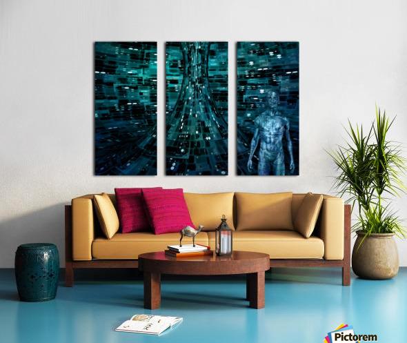 Cyborg Man Split Canvas print