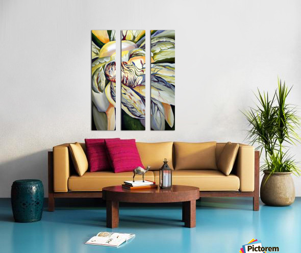 Artdeco Structural Flower Petals Split Canvas print