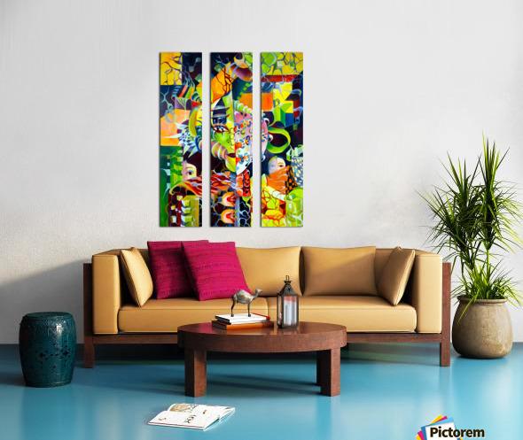Pop Currealism Contemporary Vivid Utopia Split Canvas print