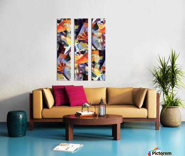 Oscillating  Magical Vivid Thoughts Split Canvas print