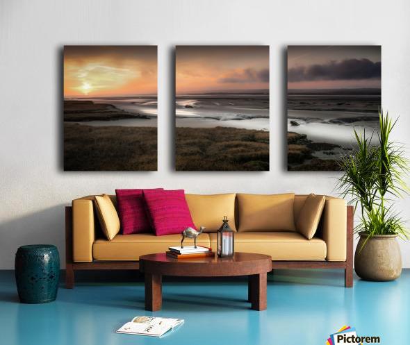 Penclawdd marsh sunset Split Canvas print