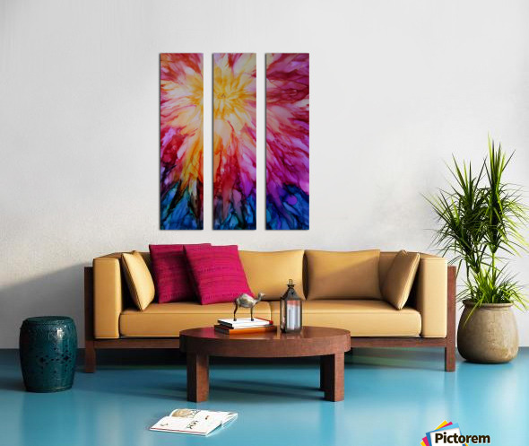 Rainbow Bloom Split Canvas print