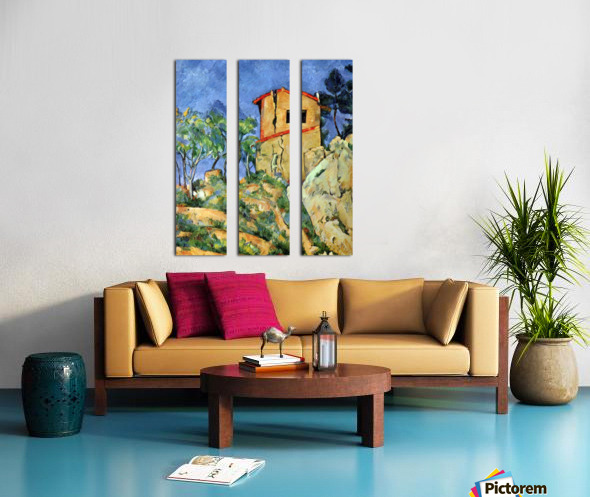 House with Walls by Cezanne Split Canvas print
