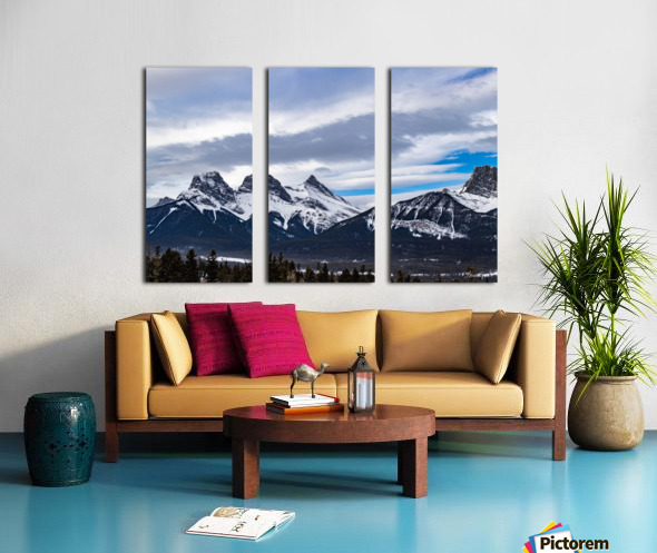Three Sisters Mountain Split Canvas print