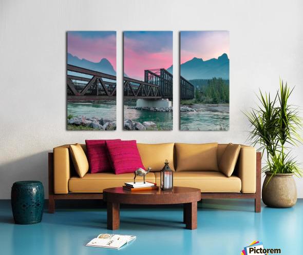 The Engine Bridge Canmore  Split Canvas print