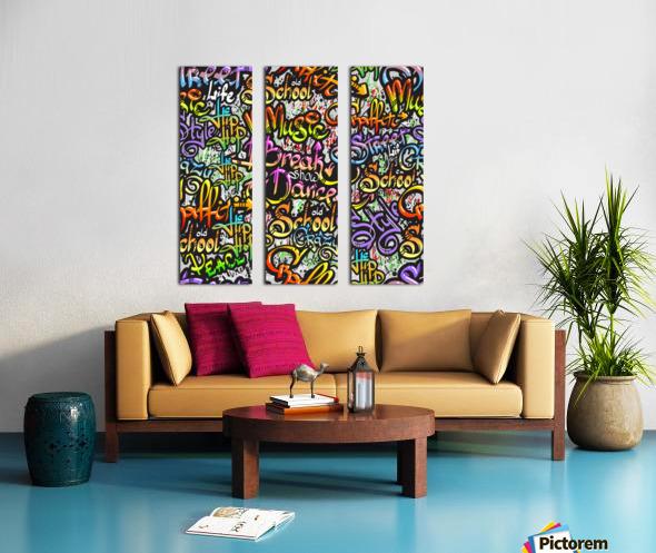 graffiti word seamless pattern Split Canvas print