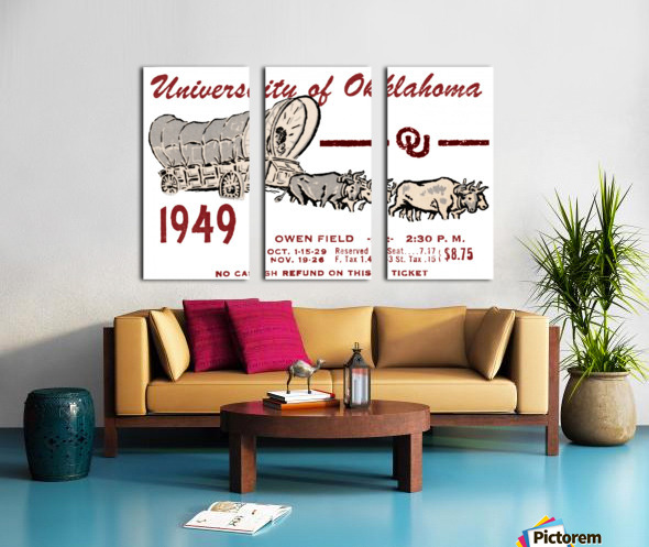 University of Oklahoma Gift Ideas for Sooner Fans Split Canvas print