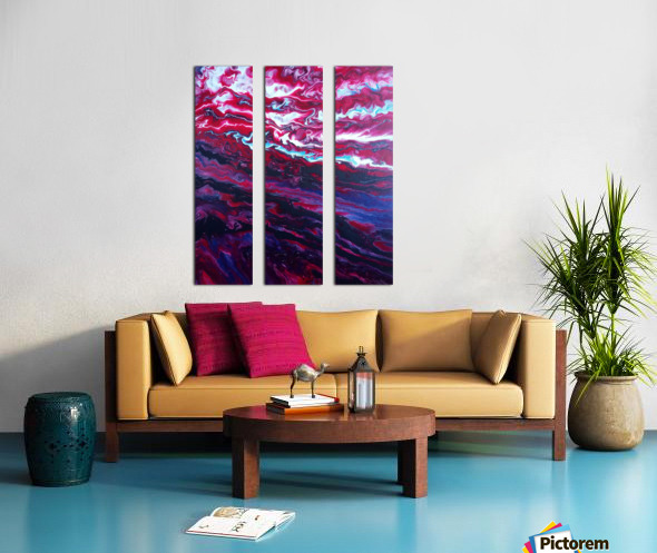 Red and purple sunset Split Canvas print