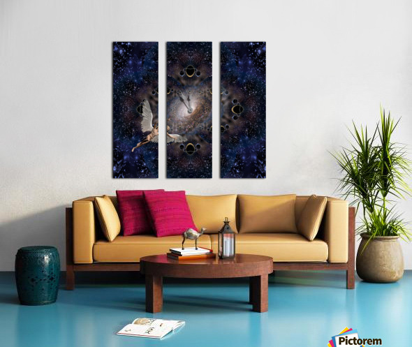 Angel in Space Split Canvas print