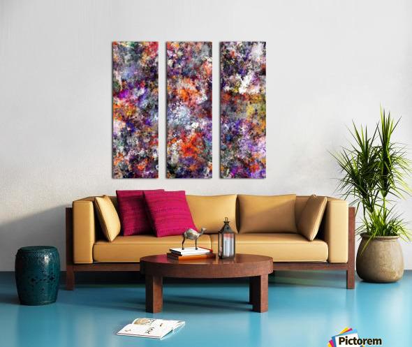 The warm cinders Split Canvas print