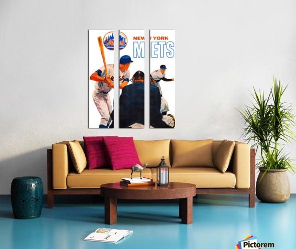 Vintage New York Mets Art Split Canvas print