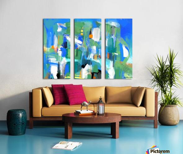 Azure Ascent Split Canvas print