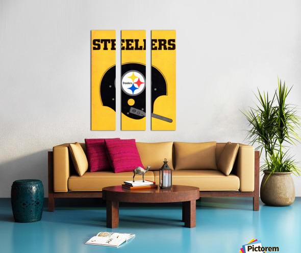 1968 Pittsburgh Steelers Helmet Art Split Canvas print