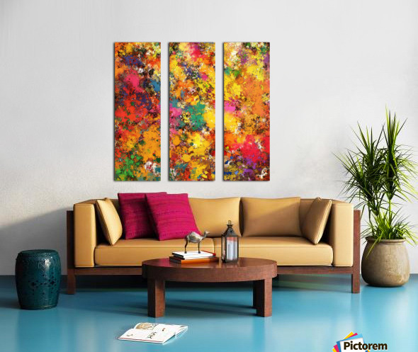 Slam Split Canvas print