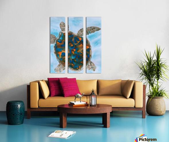 Turtle Island Breaths Again Split Canvas print