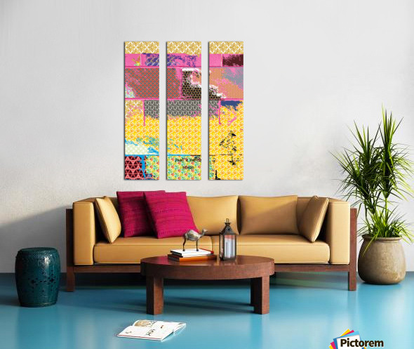 paint and paper board Split Canvas print