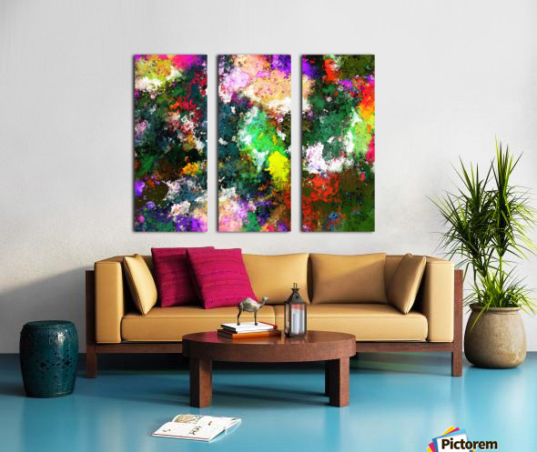 Tumbling down Split Canvas print