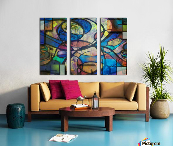 Trendy Abstract Art Split Canvas print