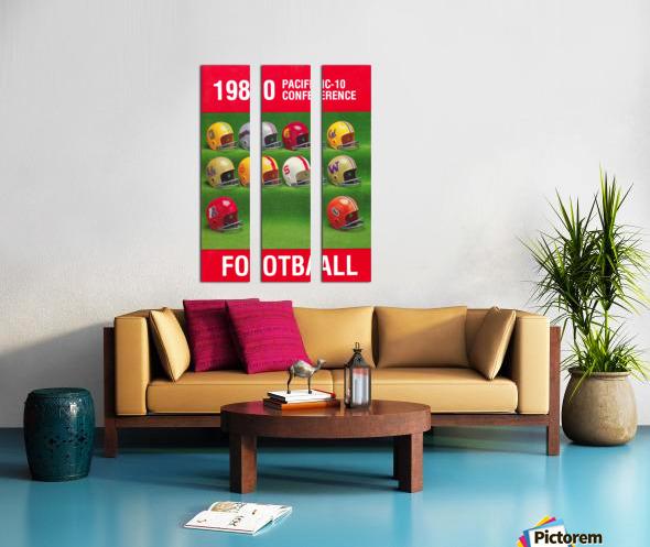 1980 Pac 10 Football Poster Split Canvas print