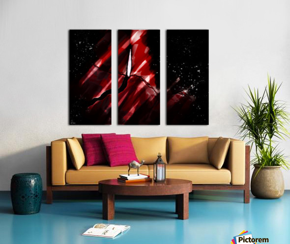 Discovering in Crimson Split Canvas print