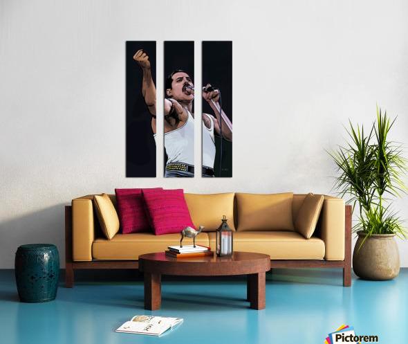 Freddie Mercury of Queen Split Canvas print