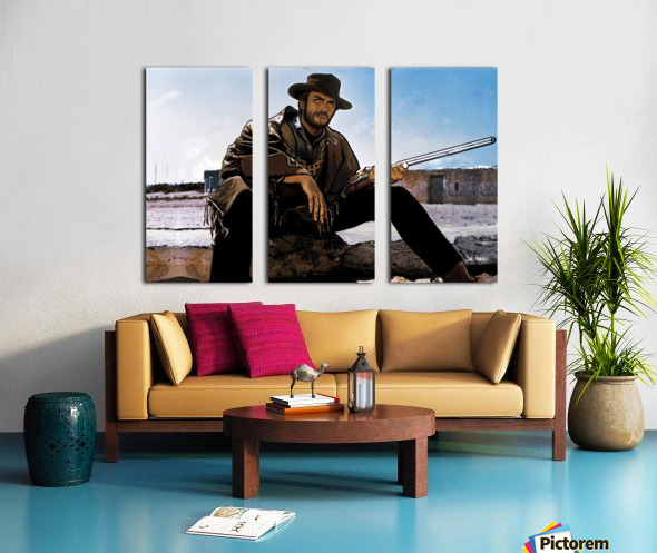 Clint Eastwood as The Man With No Name Split Canvas print