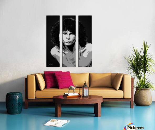 Jim Morrison of The Doors  Split Canvas print