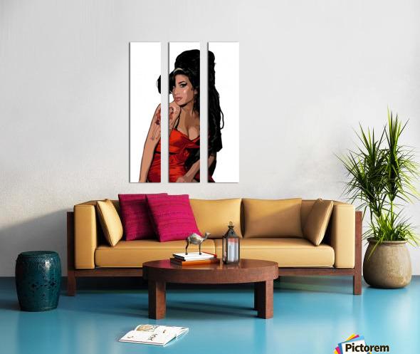 Amy Winehouse  Split Canvas print