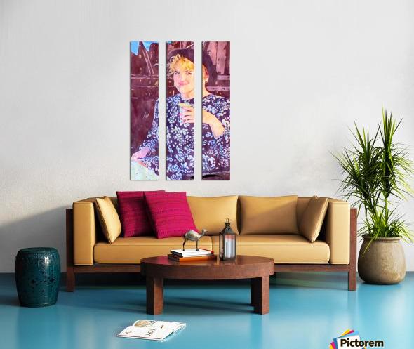 Flower Girl Split Canvas print